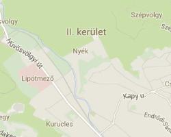 Budapest 2. kerület térképe